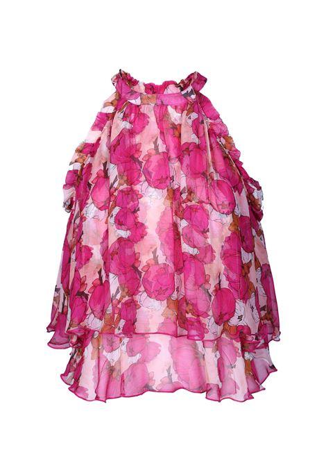Asymmetrical floral print top PINKO      1G140U-7373NP1