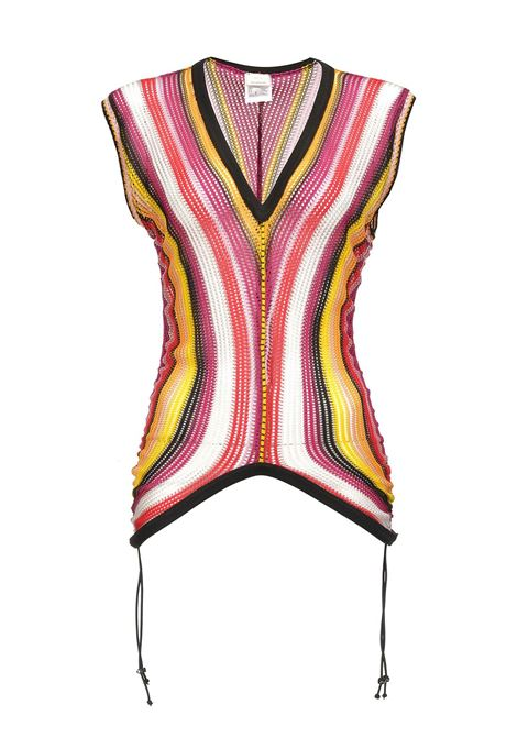 TOP IN JERSEY RACHEL DI VISCOSA A RIGHE MULTICOLOR. PINKO | Top | 1G144Q-7413HY3