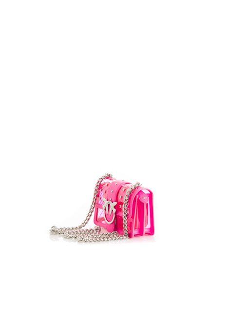MINI LOVE BAG PLASTIC IN PVC TRASPARENTE TRAPUNTATO PINKO | Borse | 1P21CW-Y5EZQ44