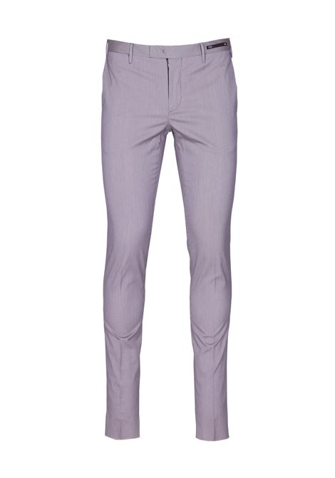 Skinny fit micro pied de poule trousers. PT01 PT01 | Trousers | CO-KSZEZ1 0CL3 MR120190