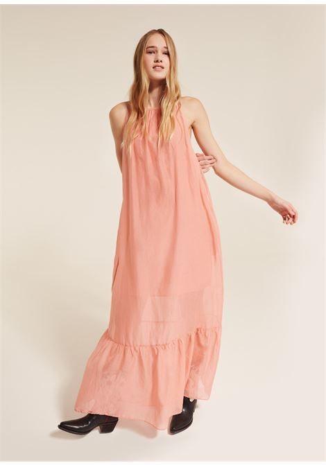 Long dress in cotton and silk muslin SEMICOUTURE | Dresses | Y9PI05F30-0