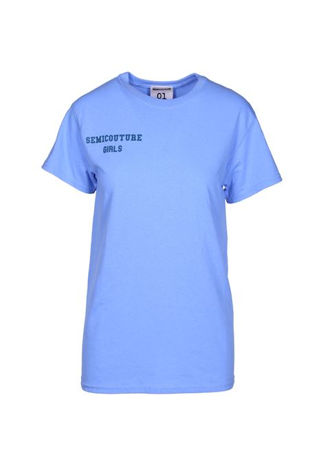 Cotton t-shirt with logo SEMICOUTURE | T-shirts | Y9PJ12L59-0