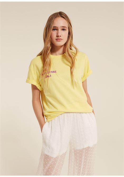 COTTON T-SHIRT WITH LOGO SEMICOUTURE | T-shirts | Y9PJ13B32