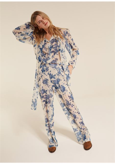 Wide floral trousers