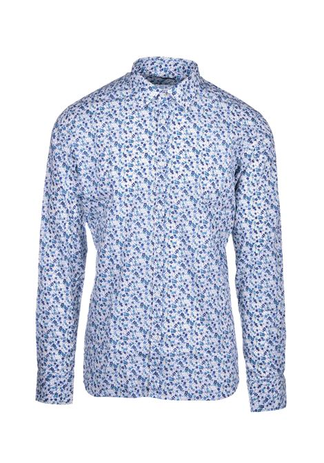 David Floral shirt - light blue AGLINI | Shirts | DAVIDE701386