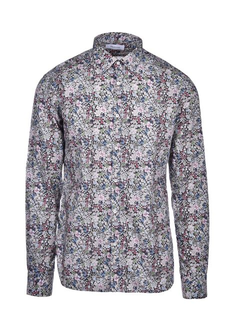 David Floral shirt - grey AGLINI | Shirts | DAVIDE701401