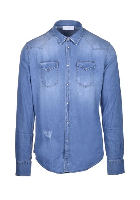 Camicia texana in denim AGLINI | Camicie | WESTERARKANSAS1151