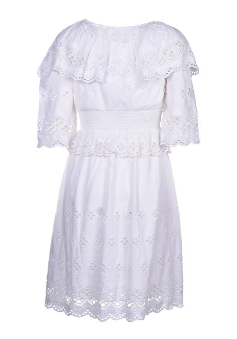 Ally Short dress with lace - White ANTIK BATIK | Dresses | ALLY1MDRWHITE
