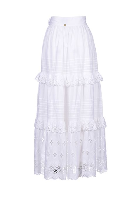 Ally long skirt with white lace ANTIK BATIK | Skirts | ALLY1SKIWHITE