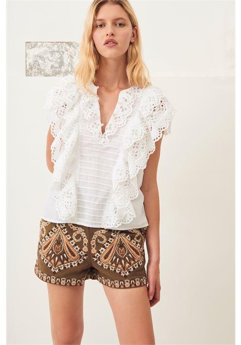 top con pizzo ally - bianco ANTIK BATIK | Top & T-shirt | ALLY1TOPWHITE