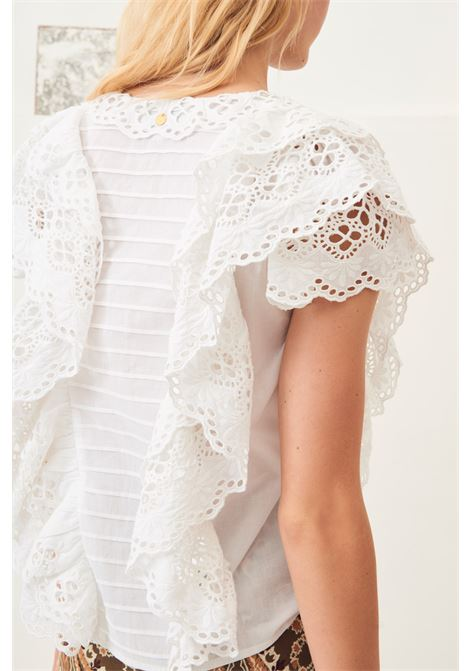 top with lace ally - White ANTIK BATIK | T-shirts | ALLY1TOPWHITE