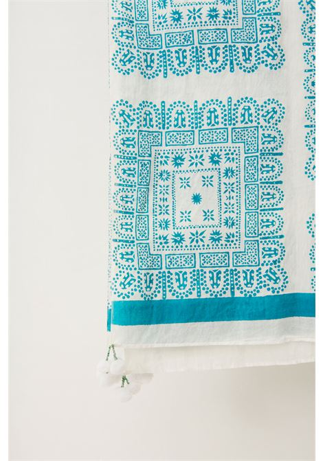 Nalii Ethnic cotton sarong - Blue ANTIK BATIK |  | NALY1PARCREAM