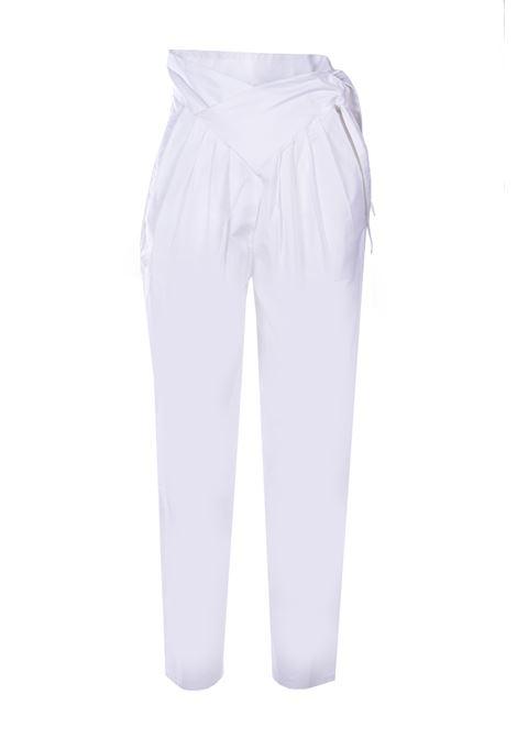 Popy Pantaloni carrot fit in popeline - bianco ANTIK BATIK | Pantaloni | POPY1PANWHITE