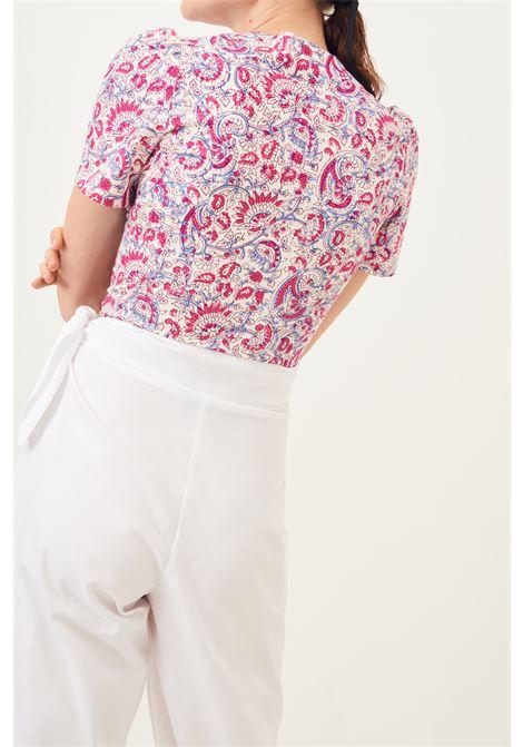 Popy Carrot fit trousers in poplin - white ANTIK BATIK | Trousers | POPY1PANWHITE