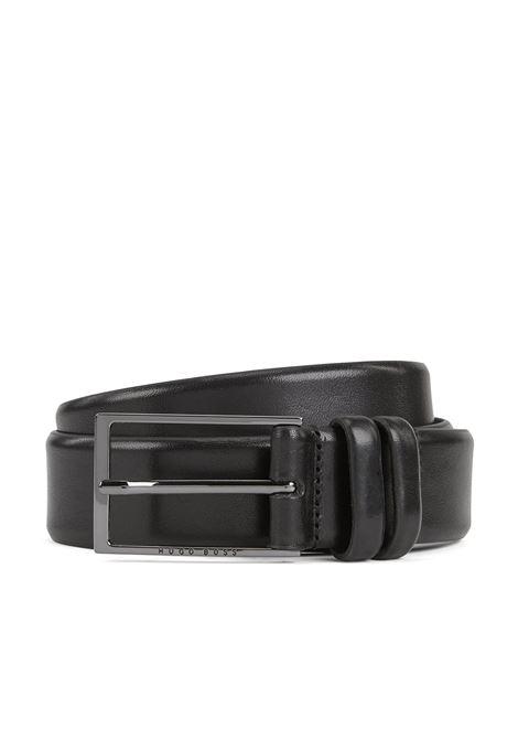Cintura bicolore in pelle conciata al vegetale BOSS | Cinture | 50239979001