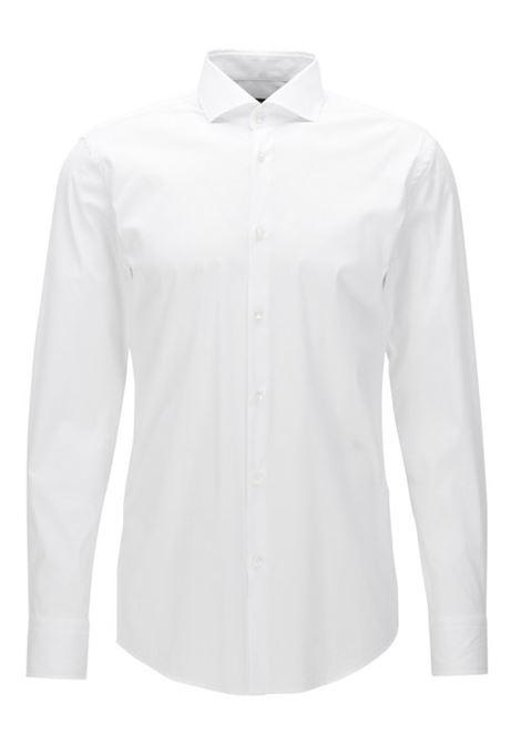 Camicia slim fit in popeline elasticizzato. BOSS   Camicie   50260064100