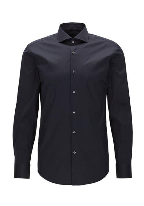 Camicia slim fit in popeline elasticizzato. BOSS   Camicie   50260064410