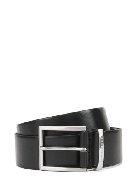 Leather belt with logo-engraved keeper BOSS | Belt | 50292246001