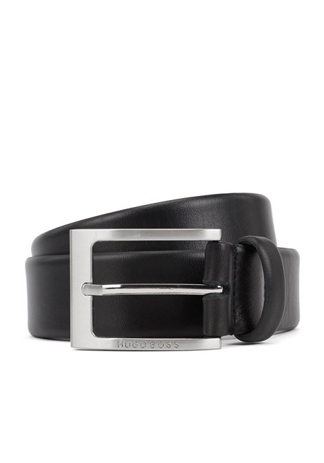 Leather belt with logo-engraved buckle BOSS | Belt | 50292247002