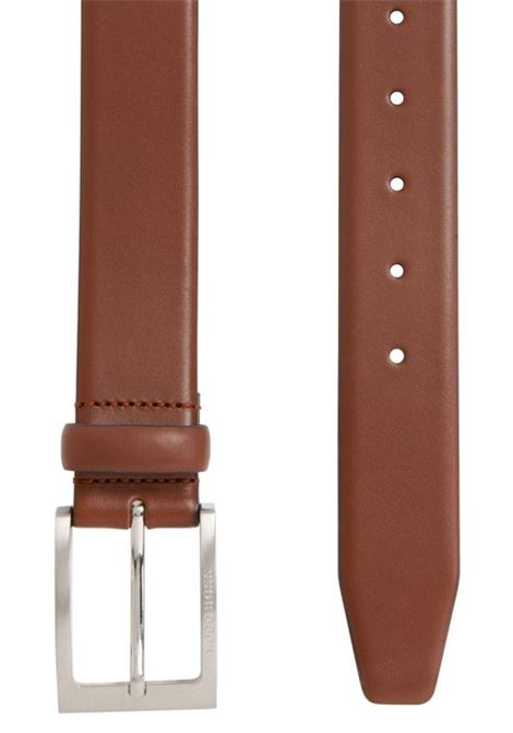 Leather belt with logo-engraved buckle BOSS | Belt | 50292247217