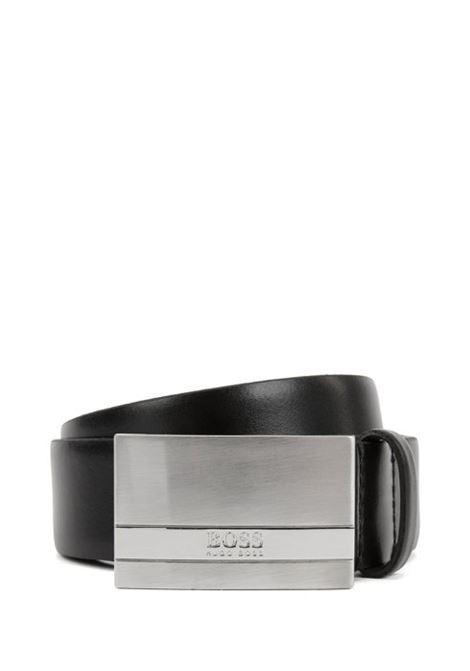 Baxton Italian-made belt in smooth leather BOSS | Belt | 50292249001