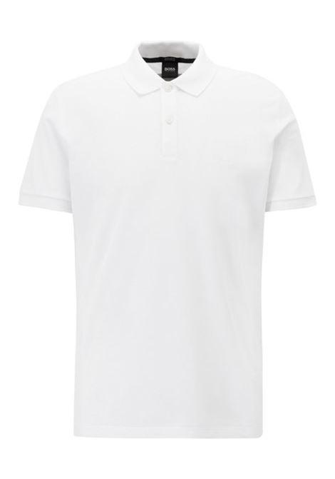 Polo Pallas regular fit due bottini - bianco BOSS | Polo | 50303542100
