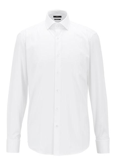 Camicia in cotone con colletto stile Kent. BOSS   Camicie   50308163100