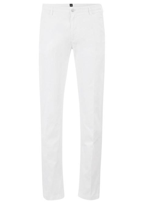 Slim-fit chinos in stretch cotton gabardine BOSS | Trousers | 50325936100