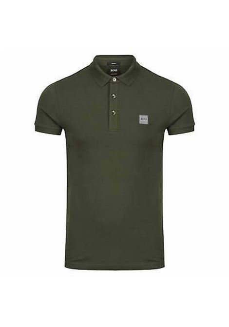 Polo passenger slim fit - verde scuro BOSS | Polo | 50378334346