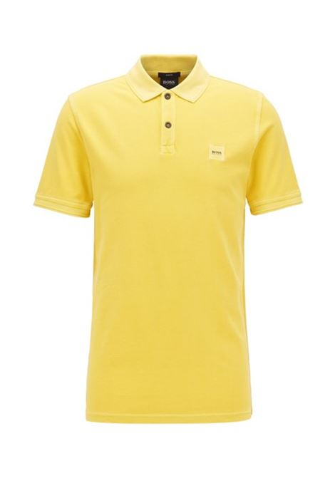 Polo prime regular fit due bottoni - giallo chiaro BOSS | Polo | 50378365723