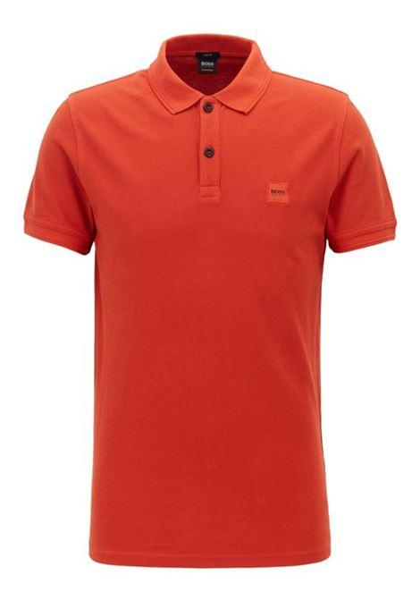 Polo prime regular fit due bottoni - arancione scuro BOSS | Polo | 50378365805