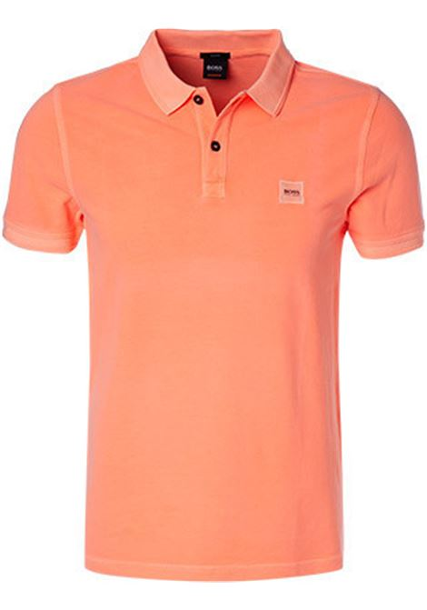 Polo prime regular fit due bottoni - arancione scuro BOSS | Polo | 50378365827