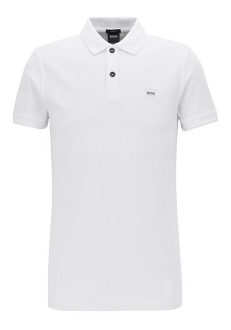 Slim-fit polo shirt in washed cotton piqué BOSS | T-shirts | 50379310100