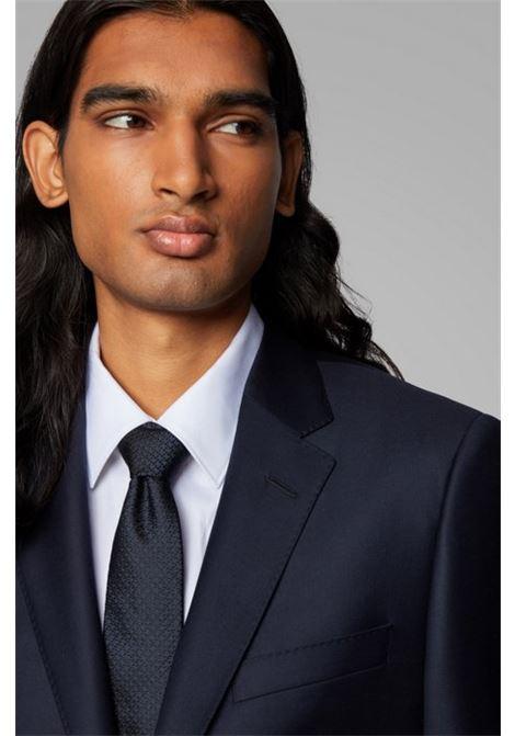 Slim-fit tailored jacket harvers - blue BOSS | Blazers | 50384765410