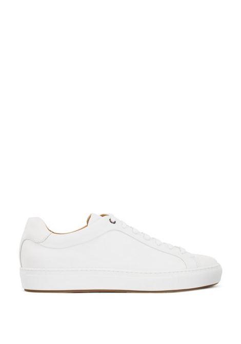 Sneakers in stile tennis in pelle brunita BOSS | Scarpe | 50386945100