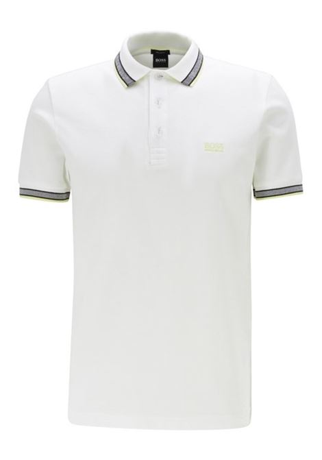 polo paddy regular fit contrast stripes - white BOSS | Polo Shirts | 50398302103