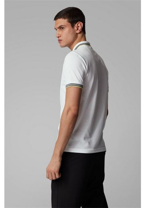 Polo paddy regular fit con righe a contrasto - bianco BOSS | Polo | 50398302103