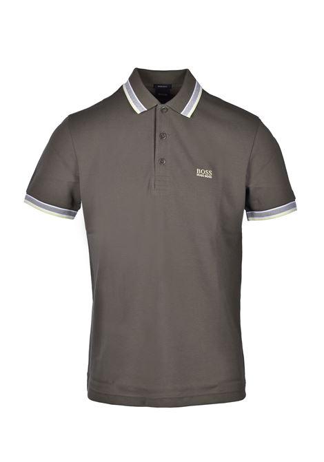 Polo paddy regular fit con righe a contrasto - verde scuro BOSS | Polo | 50398302303