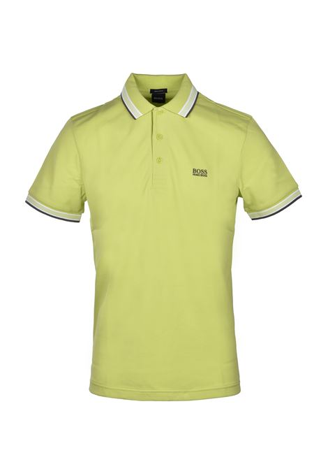 polo paddy regular fit contrast stripes - bright green BOSS | Polo Shirts | 50398302327