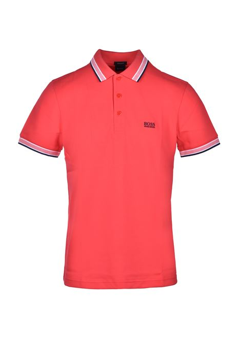 polo paddy regular fit contrast stripes - bright red BOSS | Polo Shirts | 50398302621