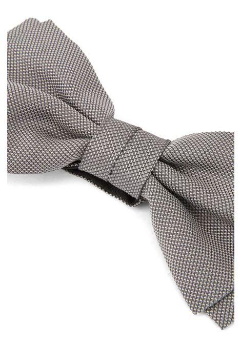 Papillon già allacciato in seta con microdisegni BOSS | Cravatte | 50406830073