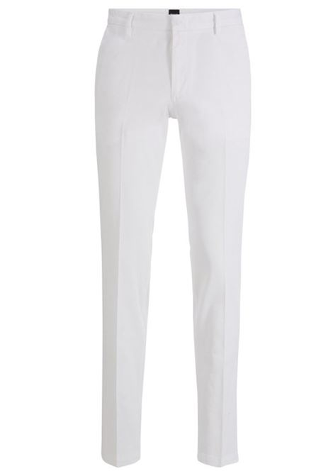 Slim-fit chinos in stretch-cotton gabardine BOSS | Trousers | 50410310100