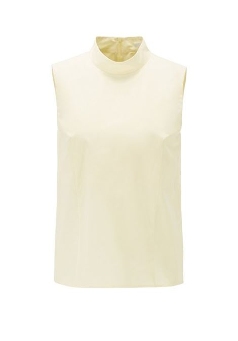 Sleeveless top in paper-touch stretch cotton BOSS | Tops | 50411108741