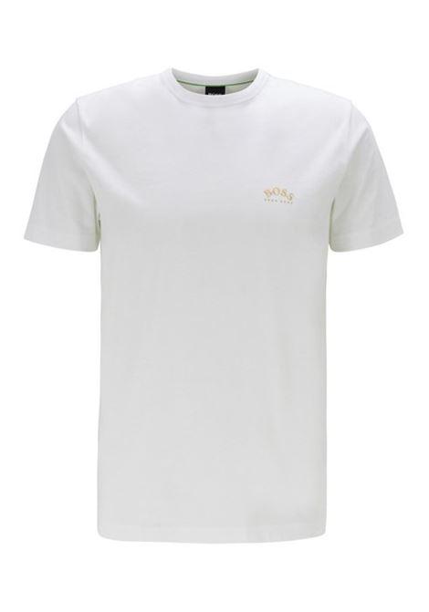 T-shirt in jersey di cotone con logo arrotondato BOSS | T-shirt | 50412363112