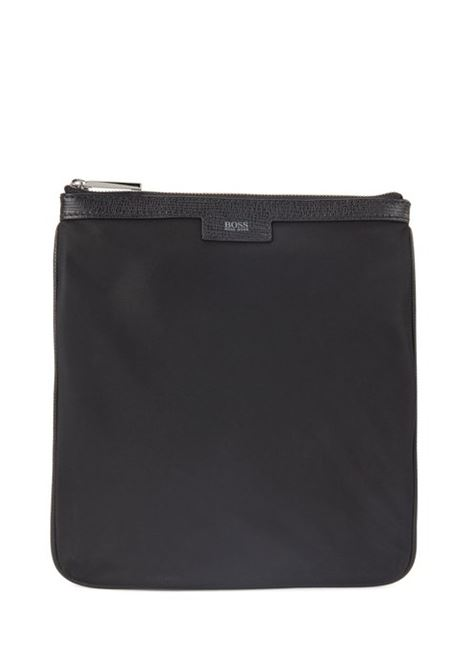 Envelope bag with leather trims and polished hardware BOSS | Bags | 50413929001