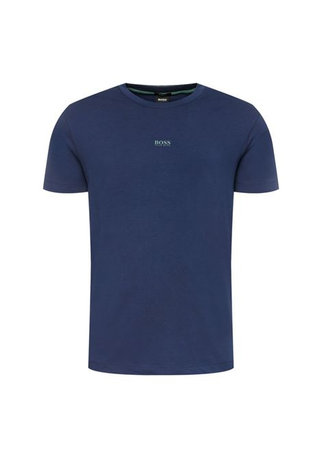 T-shirt relaxed fit in cotone elasticizzato - Navy BOSS | T-shirt | 50418749411