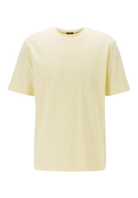 T-shirt relaxed fit in cotone elasticizzato - Giallo chiaro BOSS | T-shirt | 50418749744