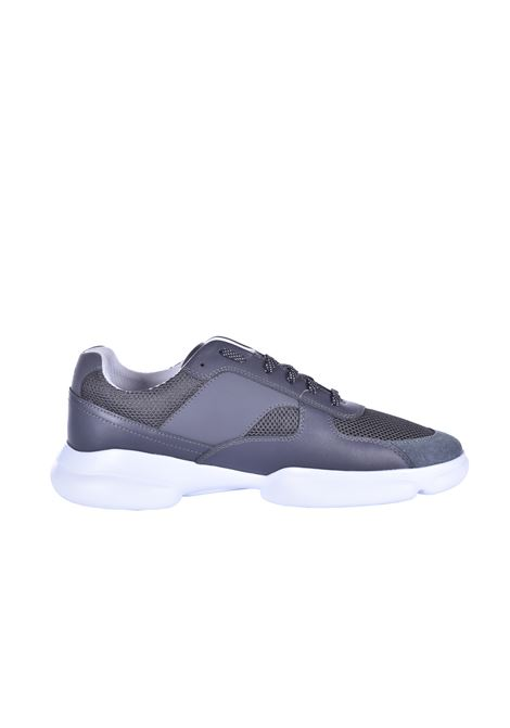Leather sneakers with open mesh sections Color BOSS | Sneakers | 50422403030