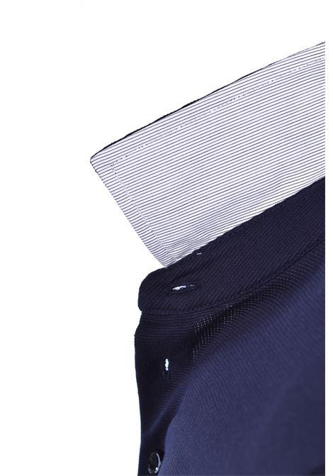 Polo Pavel slim fit maniche lunghe - blu scuro BOSS   Polo   50423284402