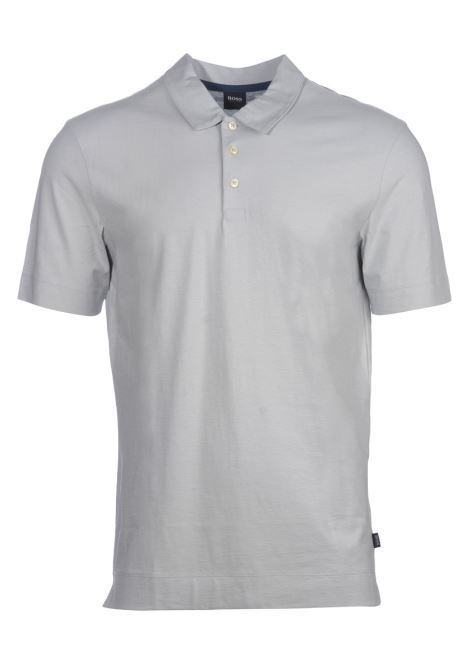 polo paino in light cotton - pastel grey BOSS | Polo Shirts | 50423313050